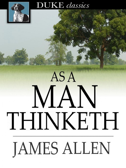 Cover image for As a Man Thinketh